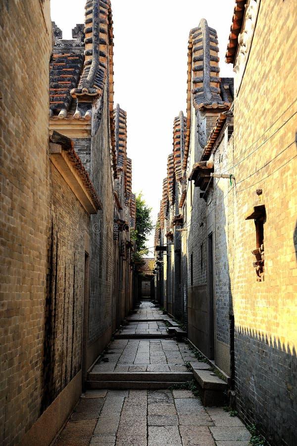 Dachitou oud dorp in Guangdong stock foto's