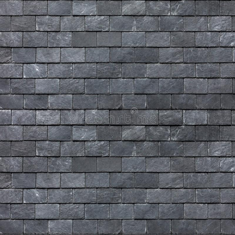 Dachowa ściana Śląski czarny iłołupek Łupkowe dekarstwo płytki zdjęcie stock