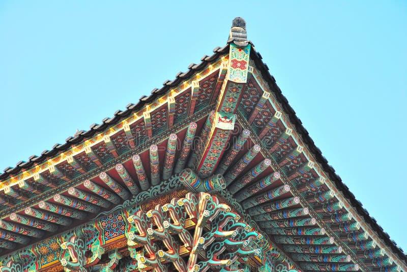 dachowa architektury świątynia obraz stock