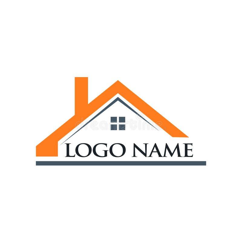 Dachowa domu i loga Imię ilustracja royalty ilustracja