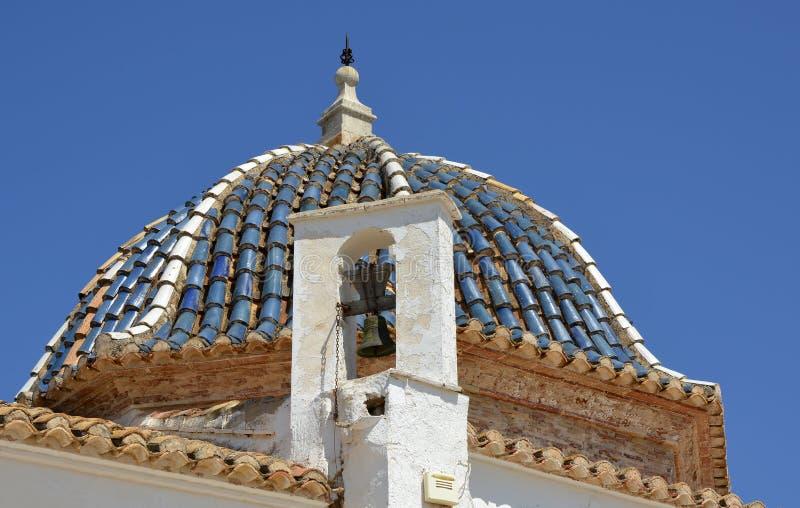 Dachowa kopuła na monasterze, Lliria, Hiszpania obrazy royalty free
