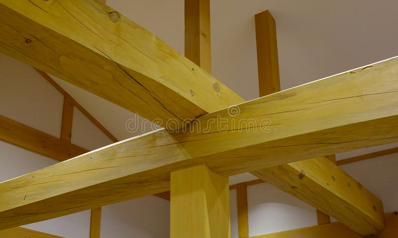 Dachowa skrzynka, wspina się wśrodku drewnianego domu fotografia royalty free