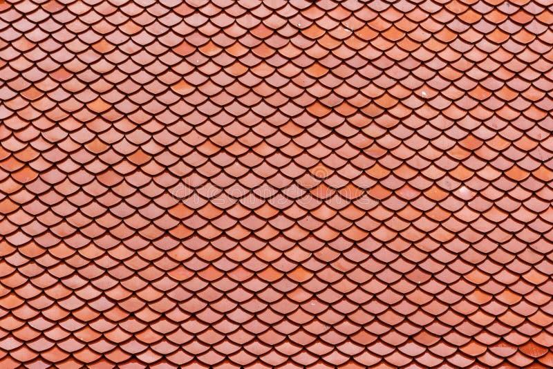 Dachowe płytki przy Wata Intharawihan świątynią, Bangkok, Tajlandia obrazy royalty free