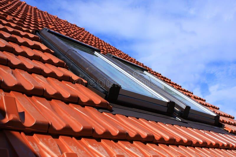 dachowi okno obrazy stock