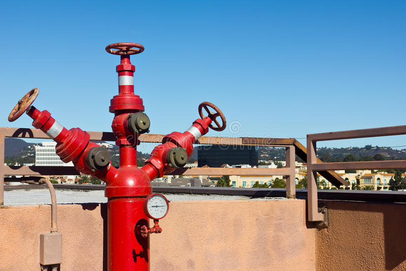 Dachowi Pożarniczy hydranty zdjęcia royalty free