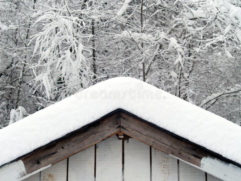 dachowy śnieg zdjęcia stock