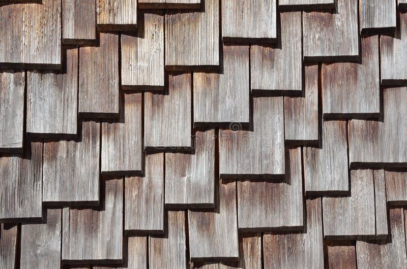 dachowy gonciany drewniany fotografia stock