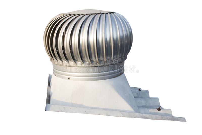 Dachowy nawiewnik na dachu przemysł unosi się przy wysokością wśrodku budynku, pomaga wentylować gorące powietrze wychodzi w tym  zdjęcie royalty free