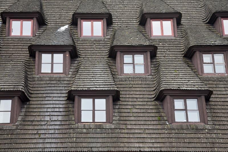 dachowy pochylanie zdjęcia stock