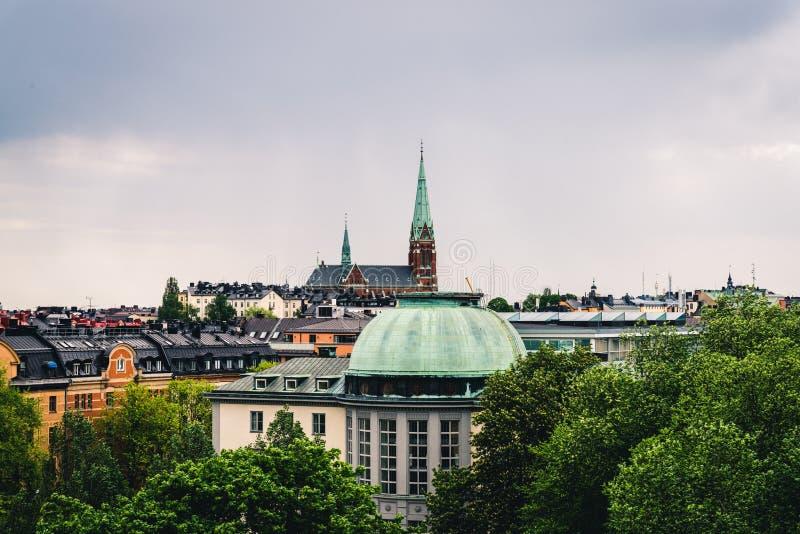 Dachowy widok Sztokholm miasto obraz royalty free