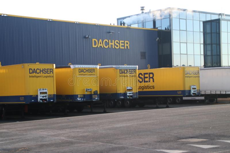 Dachser distribution center for cargo and storage at Doelwijk in waddinxveen the Netherlands. stock photography
