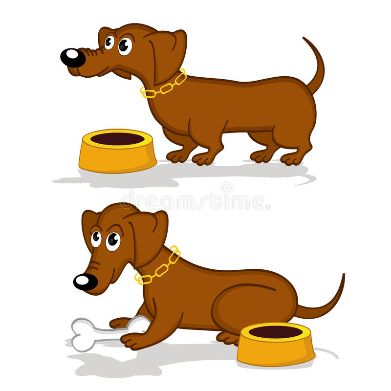 Dachshund in action royalty free illustration