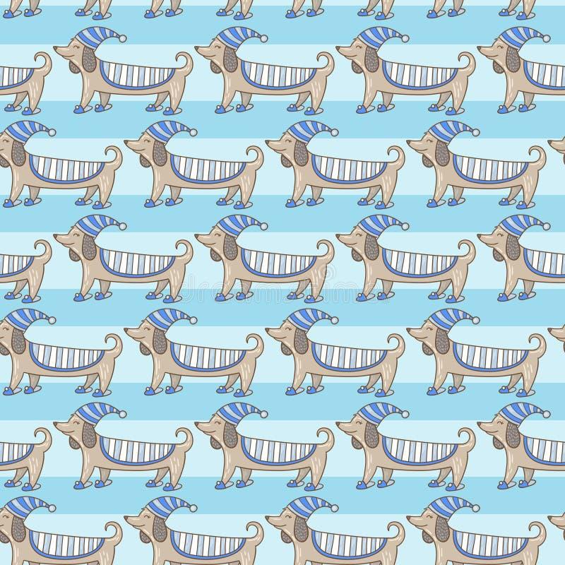 Download Dachshund Cute Dog Stripe Pattern Stock Illustration - Image: 50375378