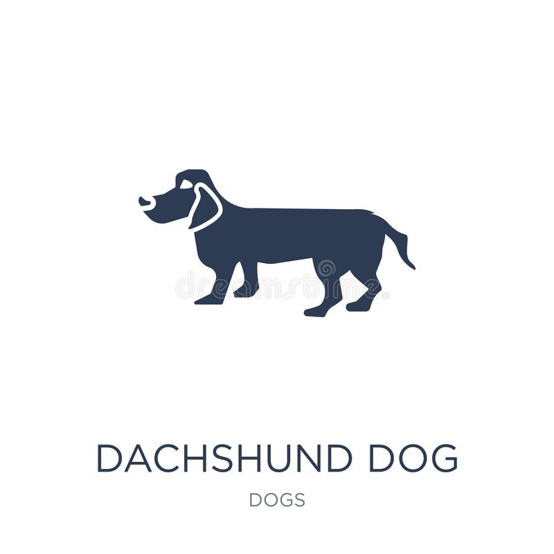 Dachshund dog icon. Trendy flat vector Dachshund dog icon on white background from dogs collection royalty free illustration