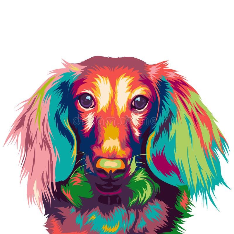 Free Dachshund Dog In Colorful Illustration Royalty Free Stock Image - 164885966