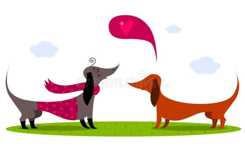 Dachshund-Hunde lizenzfreie abbildung