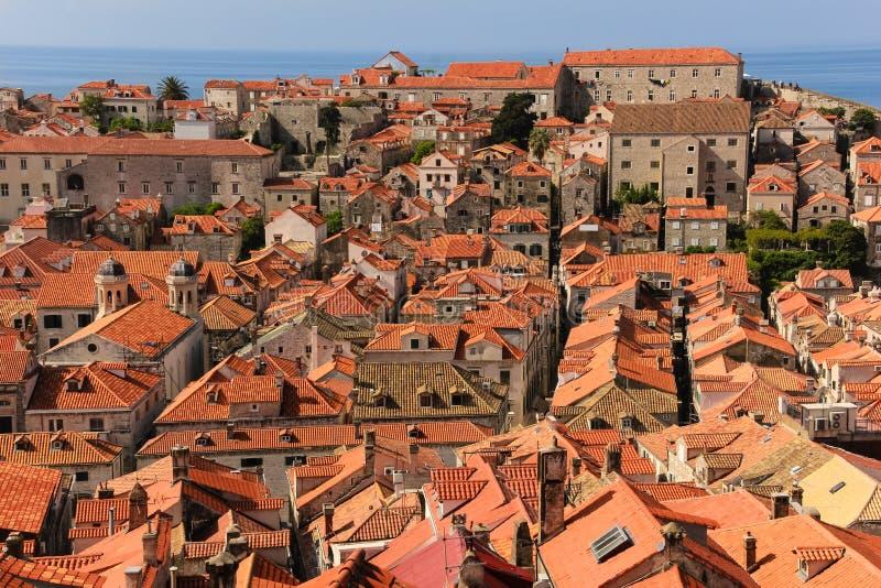 dachspitzen Ansicht der alten Stadt dubrovnik kroatien lizenzfreies stockbild