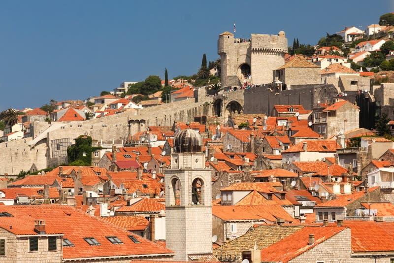 dachspitzen Ansicht der alten Stadt dubrovnik kroatien lizenzfreies stockfoto