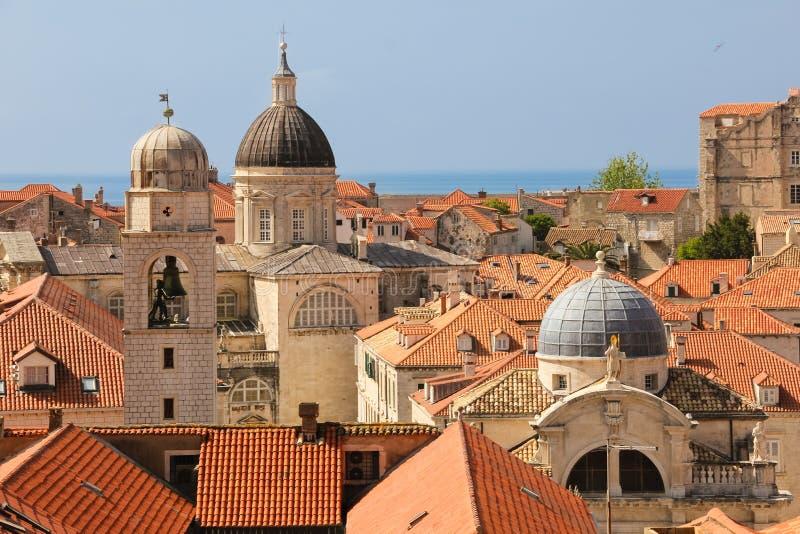 dachspitzen Ansicht der alten Stadt dubrovnik kroatien stockbilder