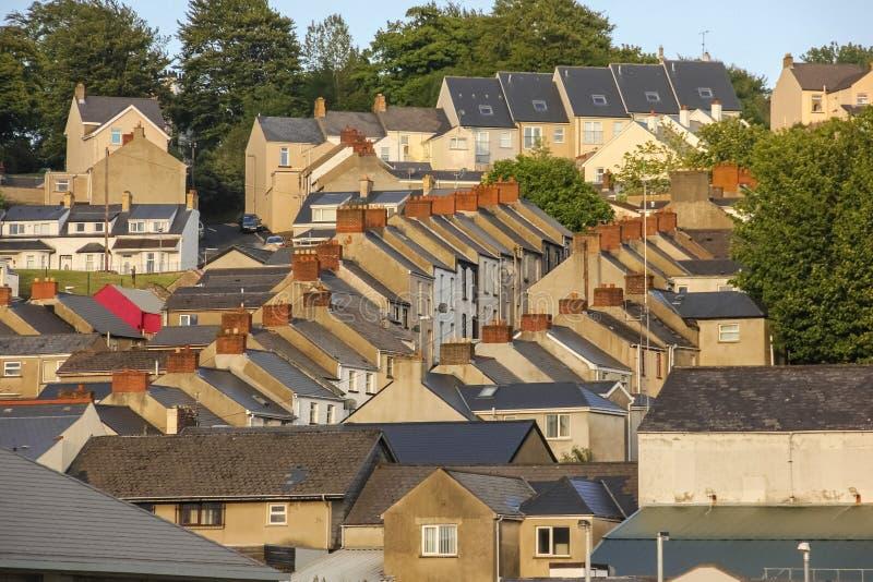 dachspitzen Derry Londonderry Nordirland Vereinigtes Königreich stockfotos