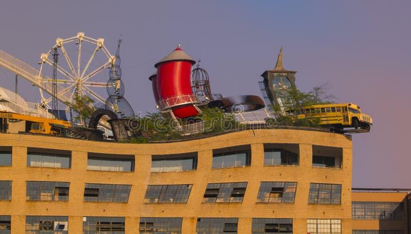 Dachspitzen-Stadt-Museum stockfoto