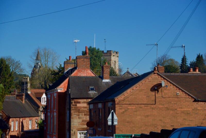 Dachspitzen von Alton stockfotografie