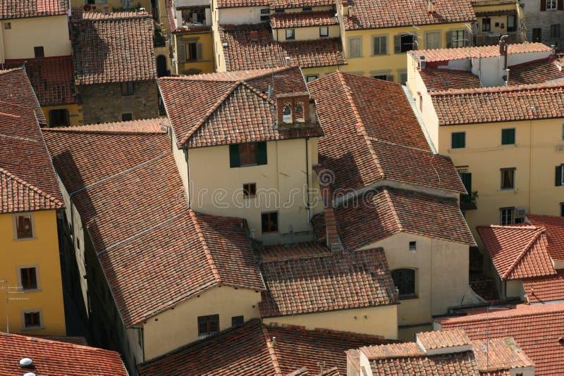 Dachspitzen von Florenz lizenzfreies stockbild