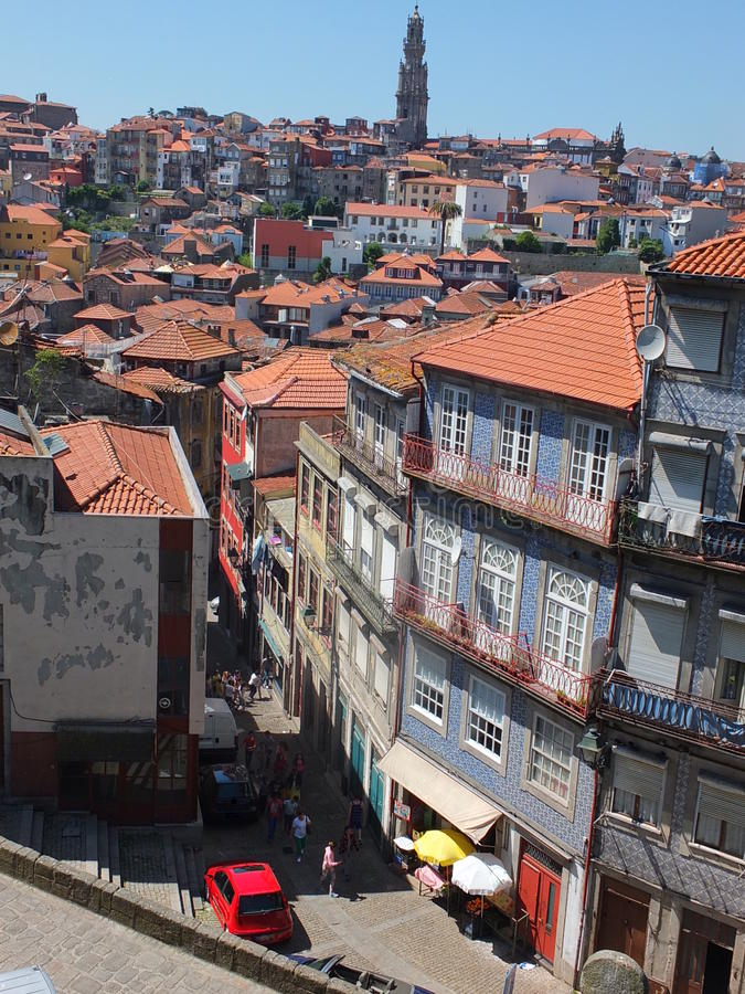 Dachspitzen von Porto lizenzfreie stockbilder