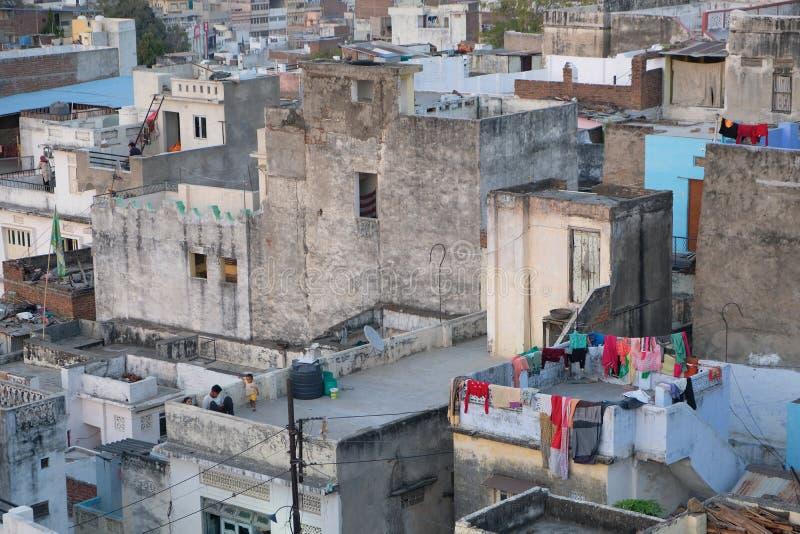 Dachspitzen von Udaipur, Rajasthan, Indien stockfotografie