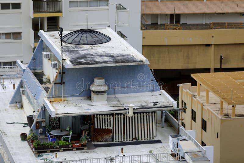 Dachspitzenwohnung in Oahu Hawaii stockfotos