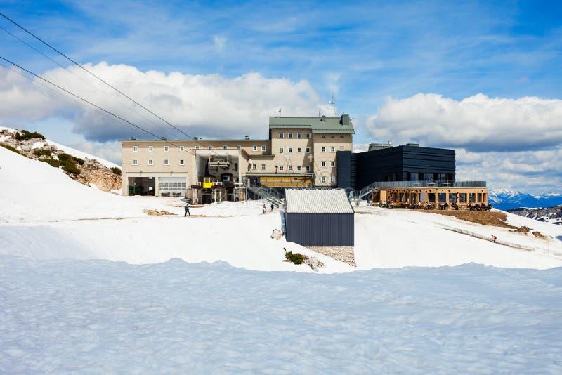 Dachstein山在奥地利 免版税库存照片