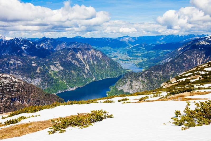 Dachstein山在奥地利 免版税库存图片