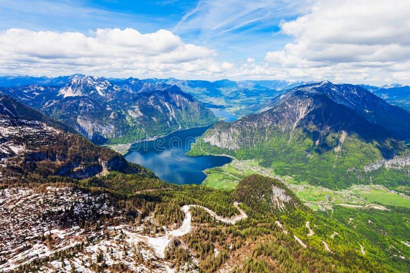 Dachstein山在奥地利 图库摄影