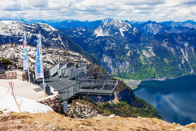 Dachstein山在奥地利 库存图片