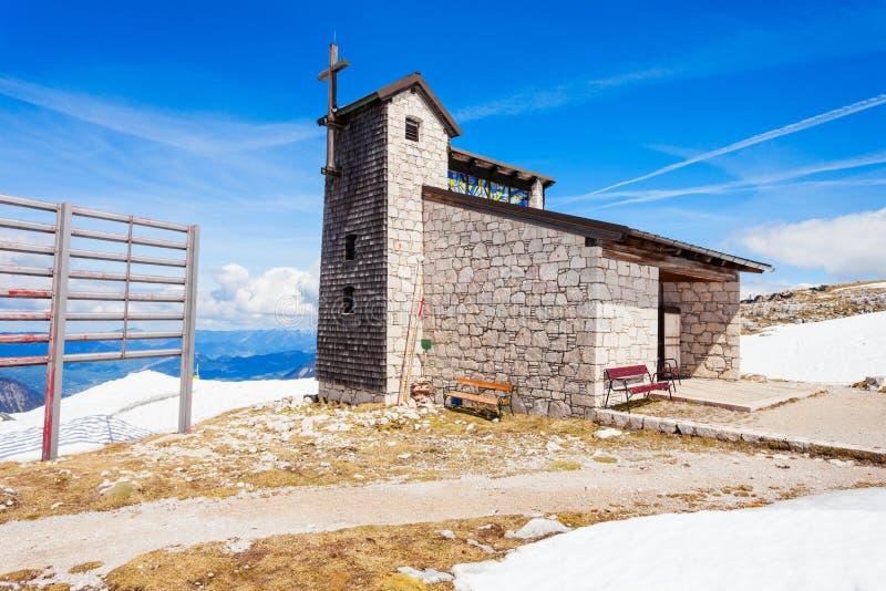 Dachstein山的大教堂 免版税库存照片