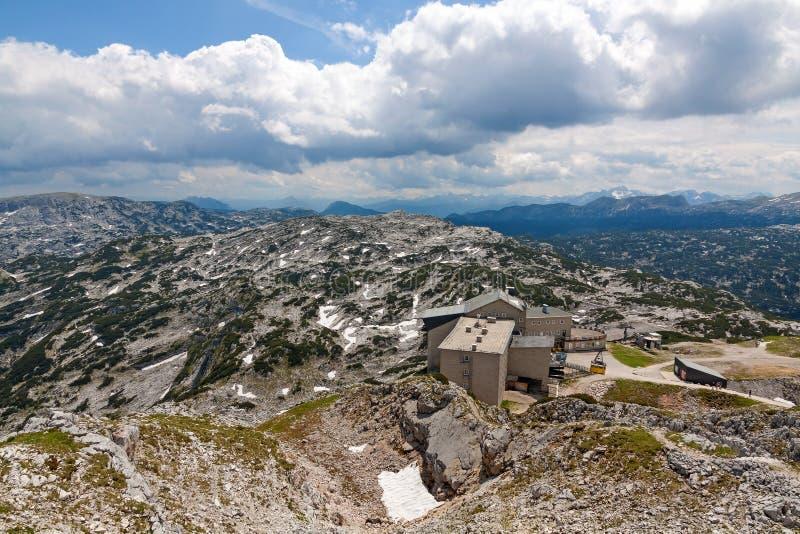 Dachstein山顶驻地 库存照片