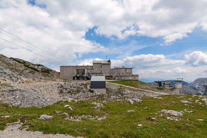 Dachstein山顶驻地 图库摄影