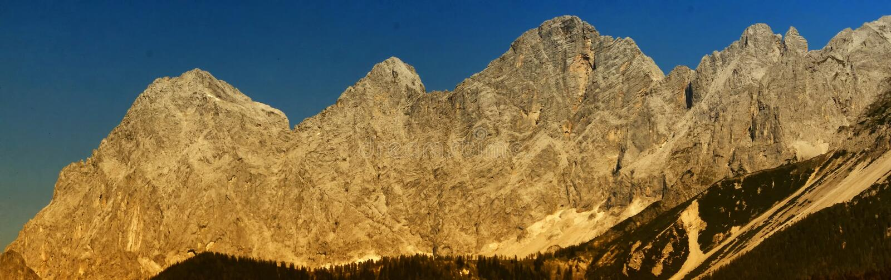 Dachstein石灰石断层块 免版税库存照片