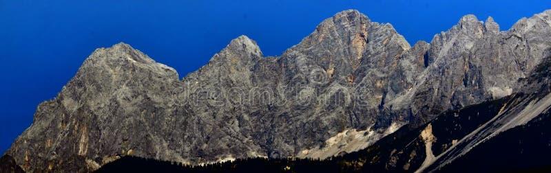 Dachstein石灰石断层块 图库摄影