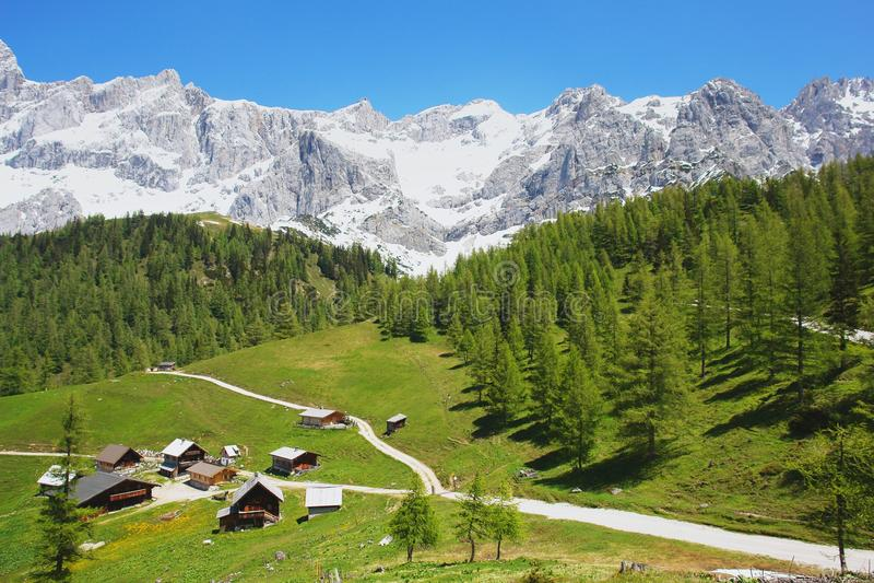 Dachstein, Áustria imagem de stock