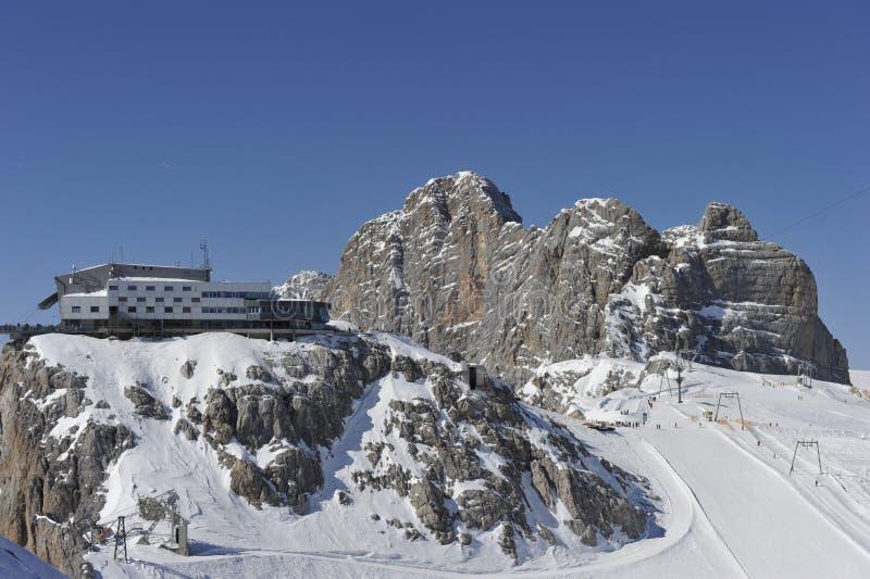 dachstein hunerkogel góry stacja zdjęcie royalty free