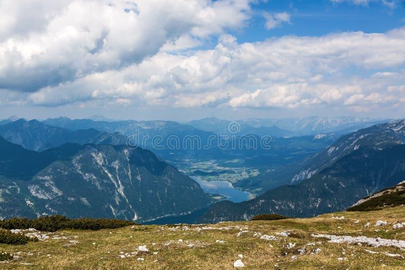 Dachstein-Krippenstein,湖Hallstatt 免版税库存图片