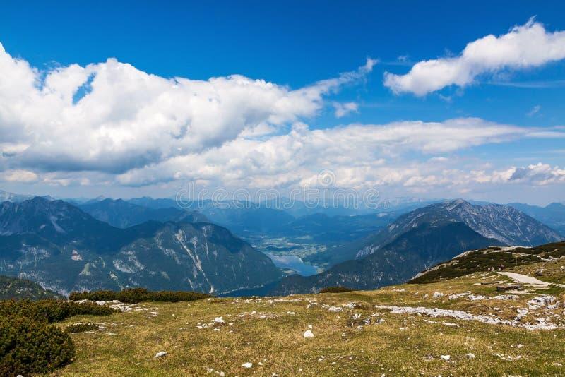 Dachstein-Krippenstein,湖Hallstatt 免版税图库摄影