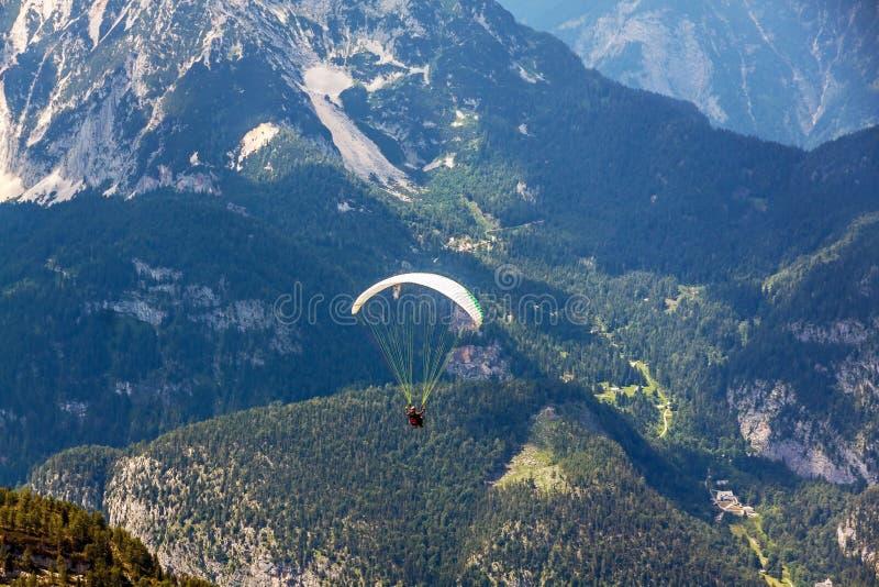 Dachstein-Krippenstein滑翔伞 库存照片