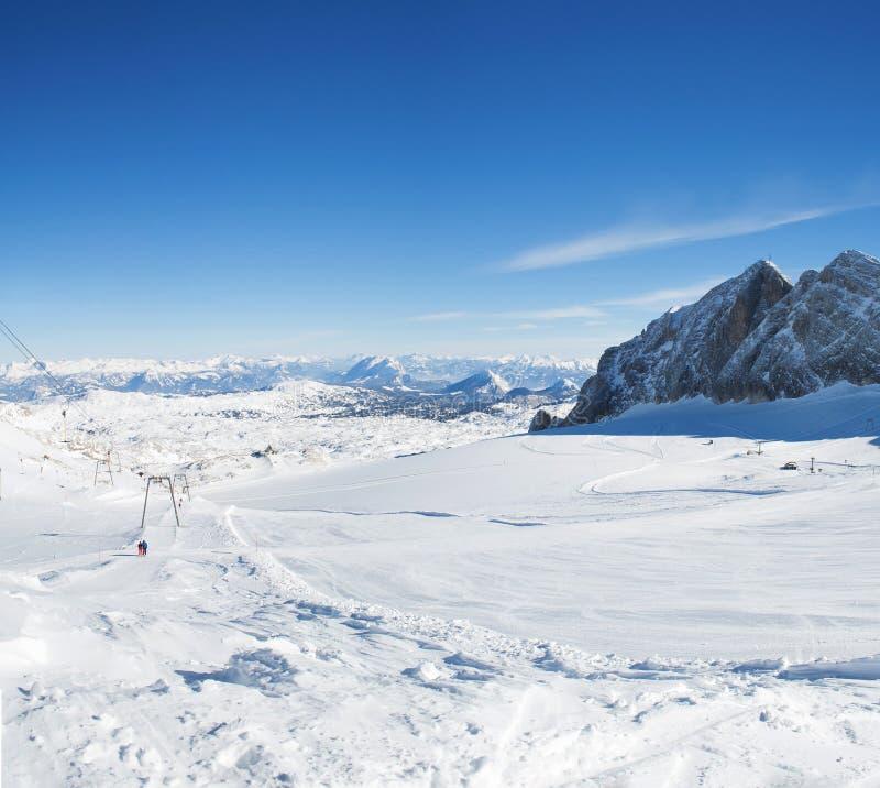 Dachstein lodowa ośrodek narciarski obraz royalty free
