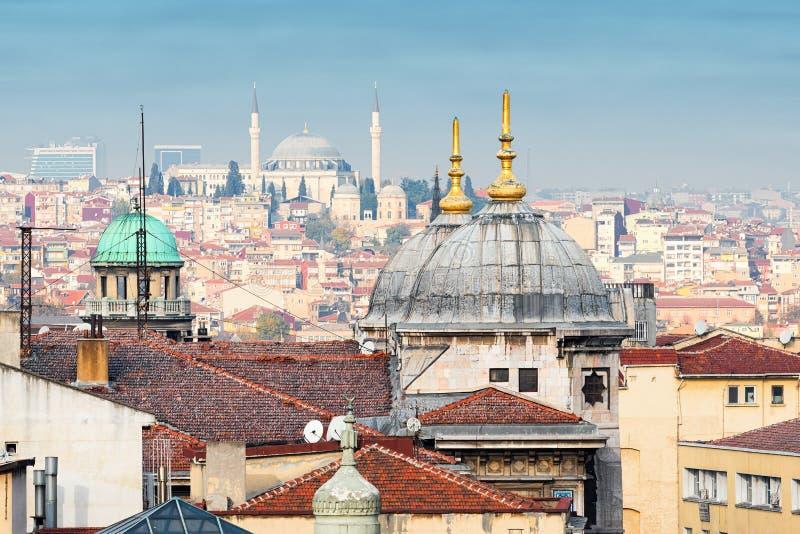 Dachu widok nad Istanbuł fotografia royalty free