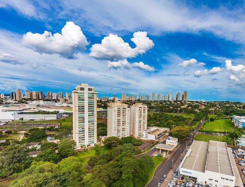 Dachu widok Ribeirao Preto - SP, Brazylia obraz royalty free