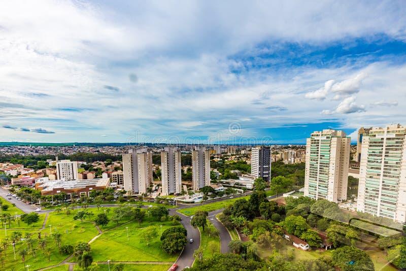 Dachu widok Ribeirao Preto - SP, Brazylia obraz stock