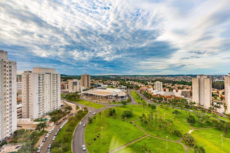 Dachu widok Ribeirao Preto - SP, Brazylia zdjęcia royalty free