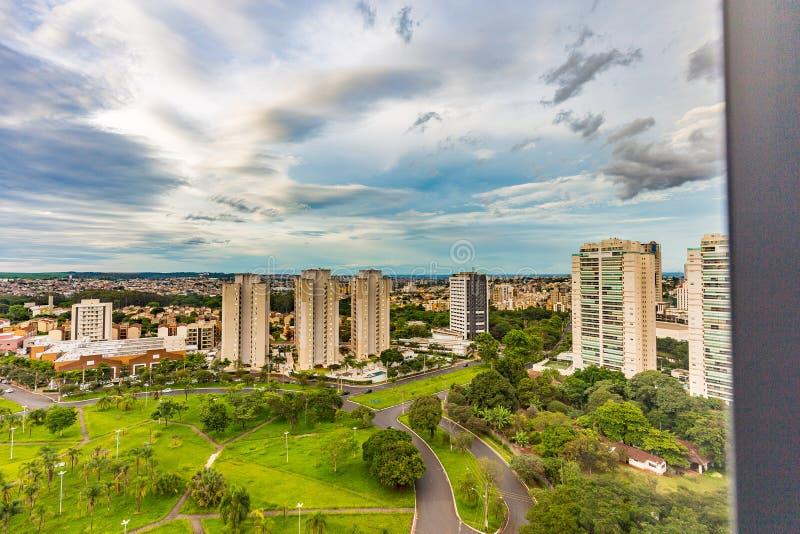 Dachu widok Ribeirao Preto - SP, Brazylia zdjęcia stock